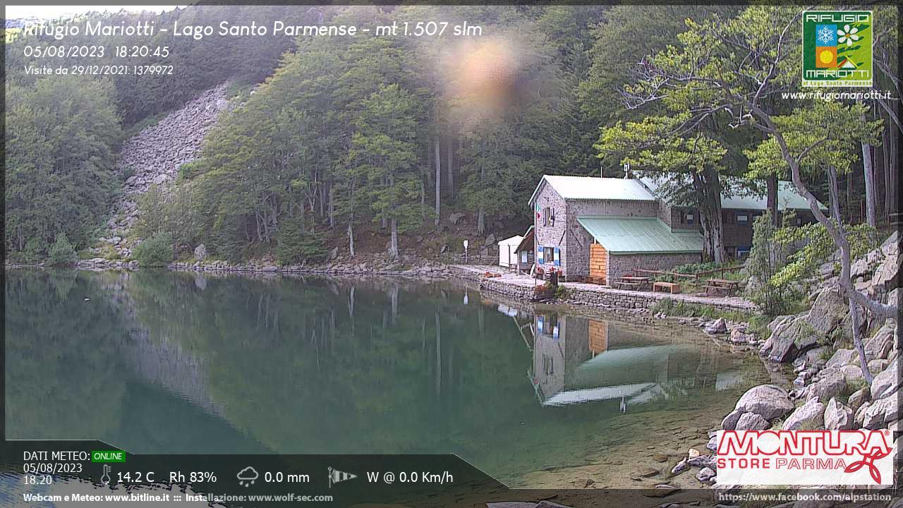 Webcam Rifugio Mariotti - Lago Santo (PR